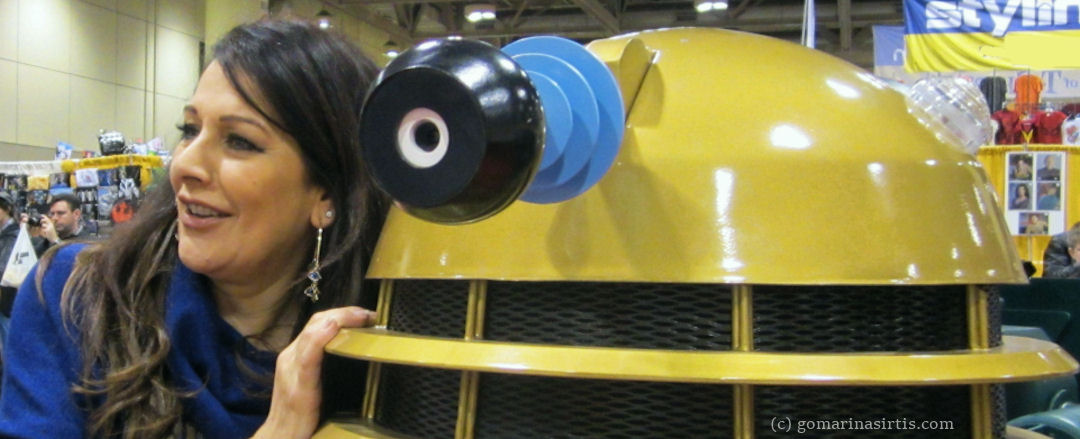 Marina Sirtis with Dalek