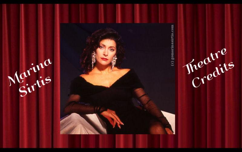 Marina Sirtis Theatre Credits